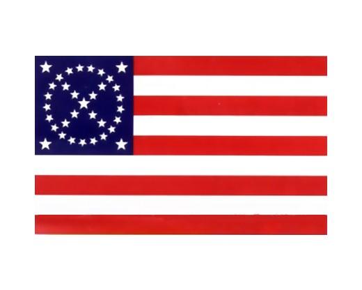 34 Star Southern Cross 9 Stripe War Flag - 3x5'