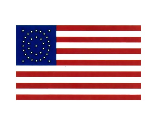 35 Star Oval Flag (1863 Gold Stars) - 3x5'
