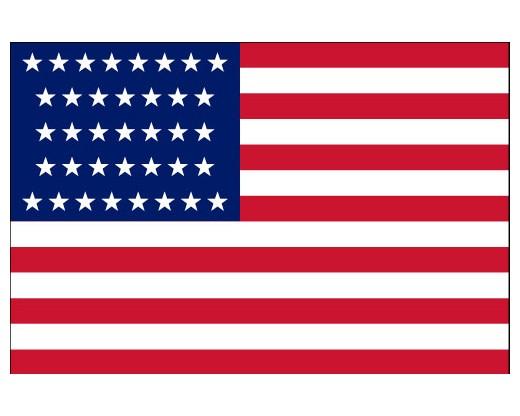 American, 37 Star Flag