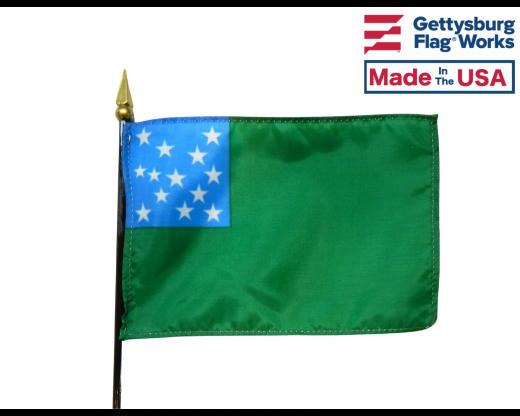 """Green Mountain Boys Stick Flag - 4x6"""""""
