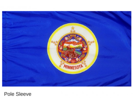Minnesota Indoor Flag - No Fringe