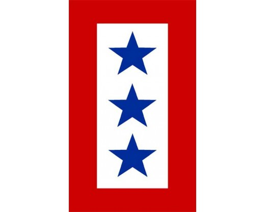 Service Star Sticker - 3 Blue Stars