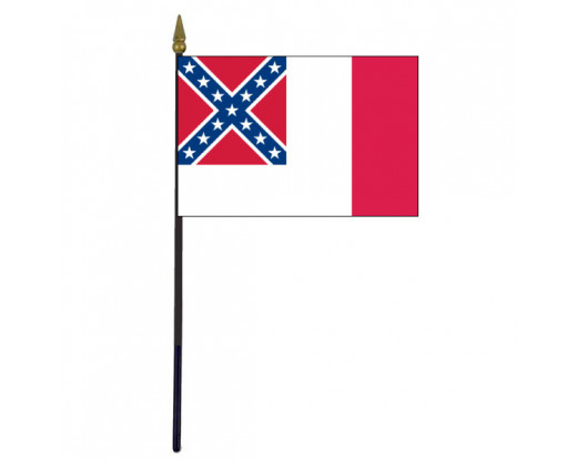 Confederate, 3rd National Stick Flag