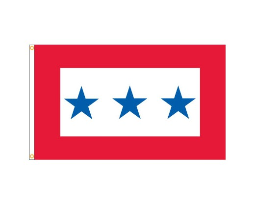 Service Star Flag (3 Blue Stars) - 3x5'