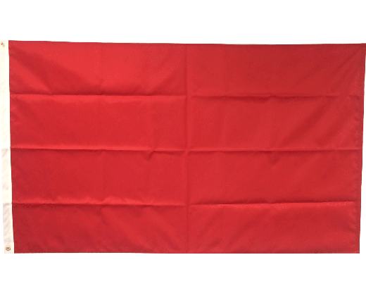 Blank Nylon Flag, Header & Grommets, Canada Red - 3x5'