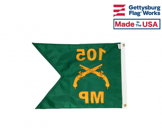 Personalized Military Police Guidon Back