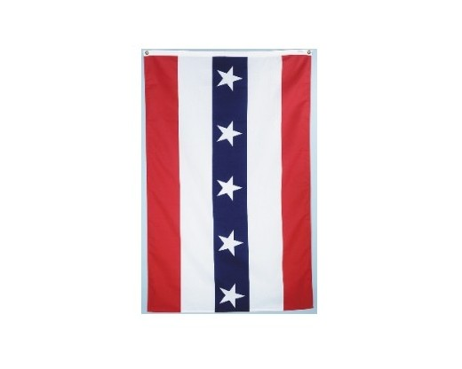 Striped Pulldown Banner - stars