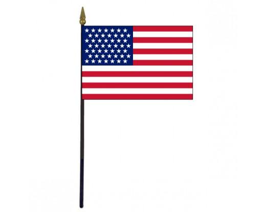 "American, 49 Stars Stick Flag - 4x6"""
