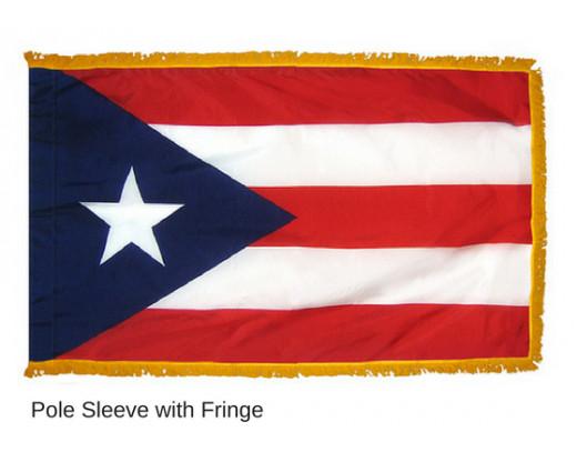 Puerto Rico Indoor Flag