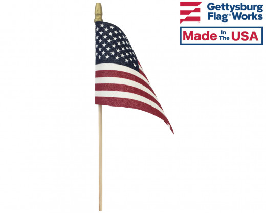 """American Stick Flags - 4x6"""""""
