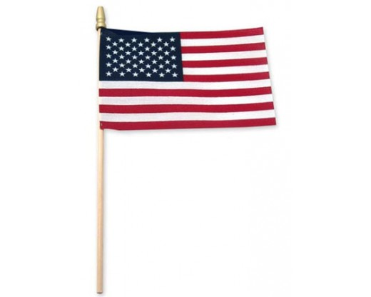 American Stick Flag (Cotton) - 4x6""
