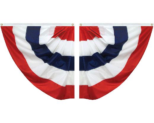 Patriotic Striped Half Fan Set
