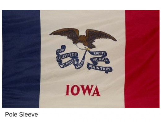 Iowa State Flag Indoor Sleeve
