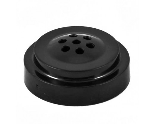 "Black plastic table base for 4x6"" flags, 7 hole"