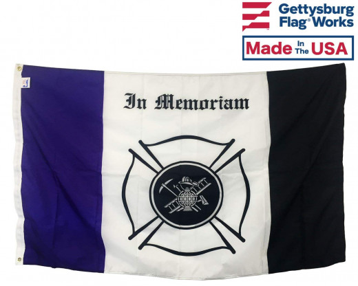 FIRE MOURNING FLAG - 3X5'