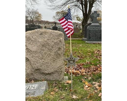 Civil War Grave Marker at grave site