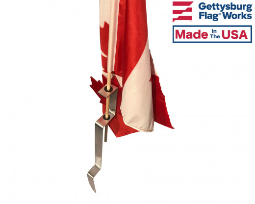 Canadian maple leaf flag holder