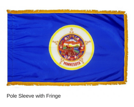 Minnesota Indoor Flag - Fringe