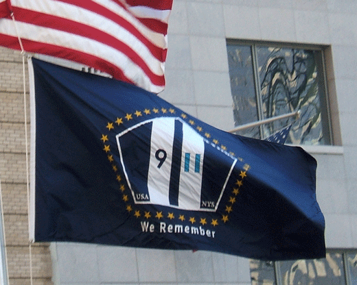 We Remember Flag Flying