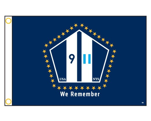 "NYS 911 ""We Remember"" Flag - 12x18"""