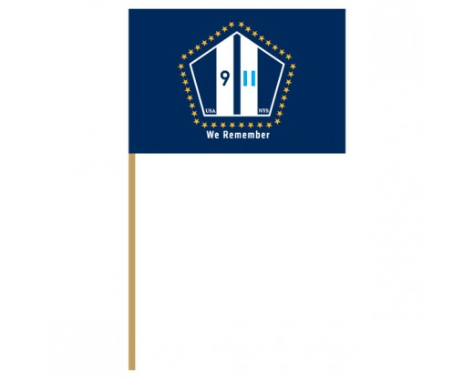 "NYS 911 ""We Remember"" Stick Flag - 4x6"""