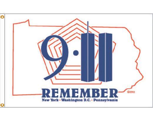 Remember 911 Flag - 3x5'