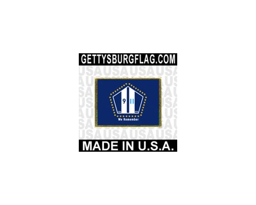 "NYS 9/11 ""We Remember"" Lapel Pin (Single Rectangle Flag)"