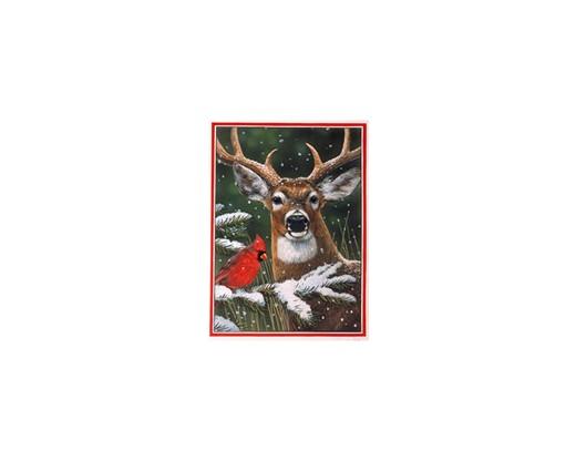 Deer Cardinal House Banner
