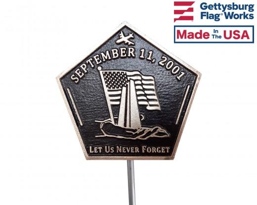 September 11th Grave Marker-Bronze