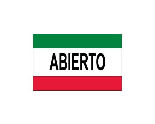 Abierto Flag (Open)