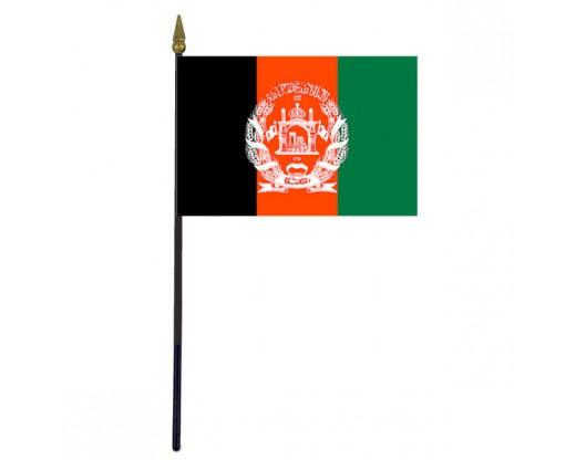 "Afghanistan Stick Flag - 4x6"""