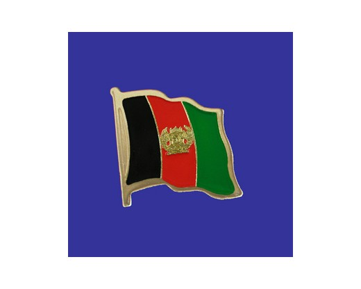 Afghanistan Lapel Pin (Single Waving Flag)