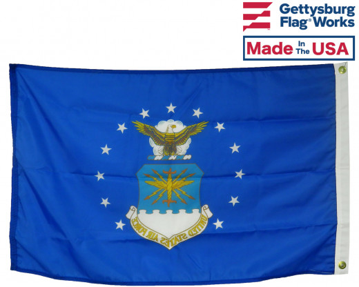 Back of Air Force Flag