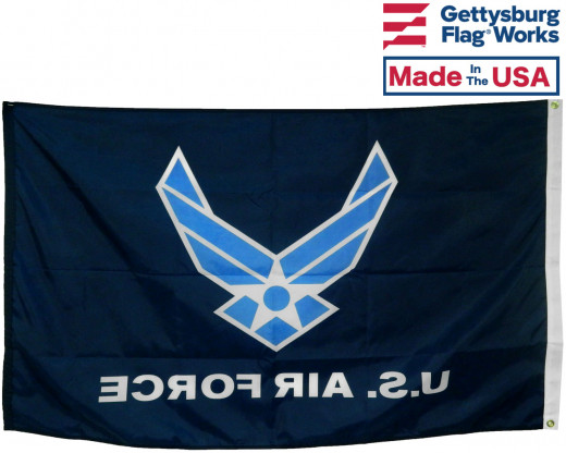 Back of Air Force Wings Flag