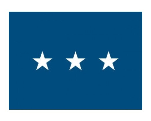 Air Force Lieutenant General (3 Star ) - Air Force Officer Outdoor Flags