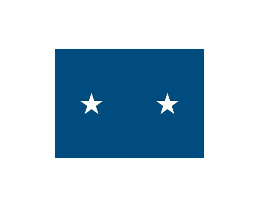 Air Force Major General Flag (2 Stars) - 3x5'