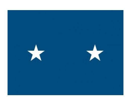Air Force Major General (2 Star) - Air Force Officer Outdoor Flags
