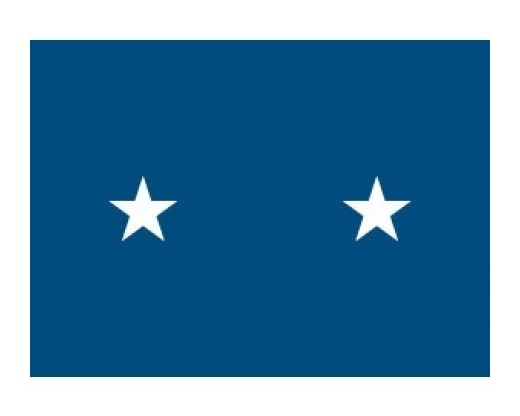 Air Force Major (2 Star) General - Indoor Air Force Officer Flags