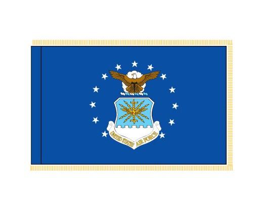 Air Force Flag, Pole Sleeve & Fringe - 4x6'
