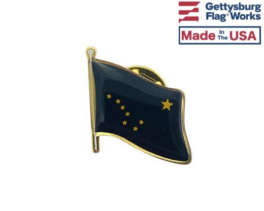 Alaska State Flag Lapel Pin (Single Waving Flag)