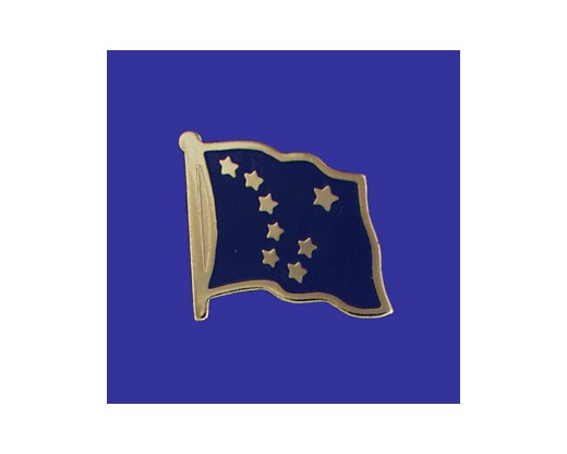 Alaska State Flag Lapel Pin (Single Waving Flag) (Imported - Close Out)