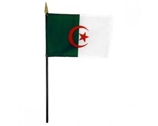 "Algeria Stick Flag - 4x6"""