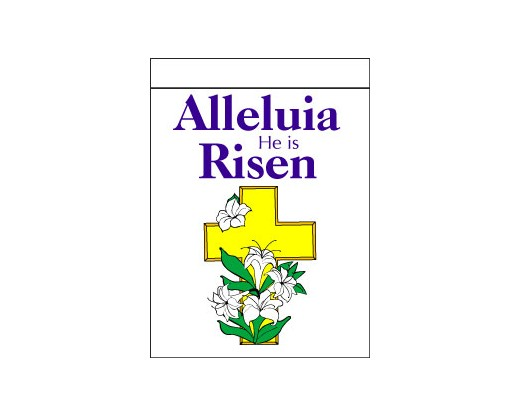 Alleluia He Is Risen Flag