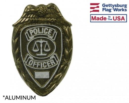 Aluminum Police Grave Marker