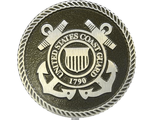 Coast Guard Aluminum Grave Marker