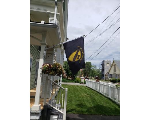 house mount aluminum flag pole