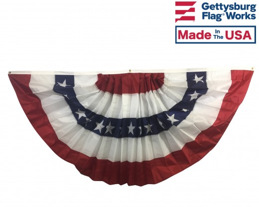 Patriotic Pleated Fan Cotton