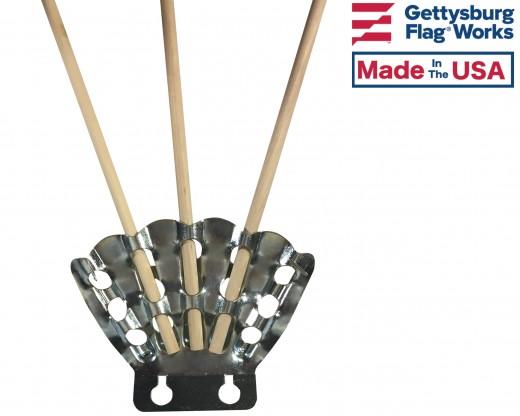 Bracket 5 Finger Stamped Steel w sticks