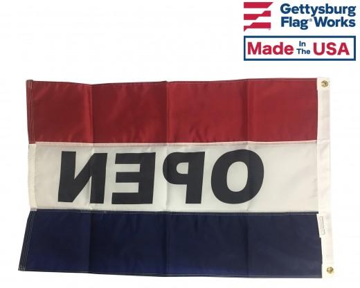 OPEN Flag, Red, White & Blue (Horizontal)