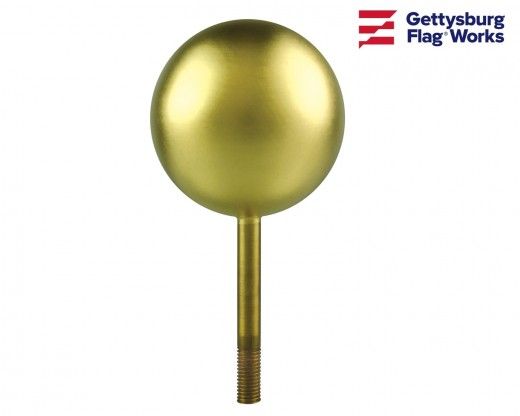 Gold Leaf Copper Ball Ornament
